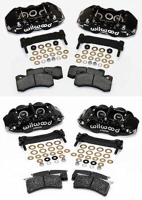 WILWOOD CALIPER,PAD,& BRACKET KIT,FRONT & REAR,97-13 CORVETTE C-5,C-6,Z06,BLACK
