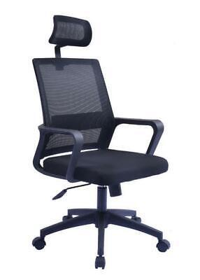 Executive Mesh Chair Ergonomic High Optima Office Extra Comfort Headrest Armrest