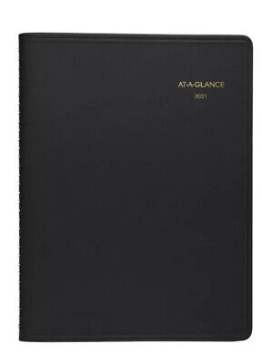 2021 At-a-glance 70-260 70-260-05 Monthly Planner 8-78 X 11 Black Cover