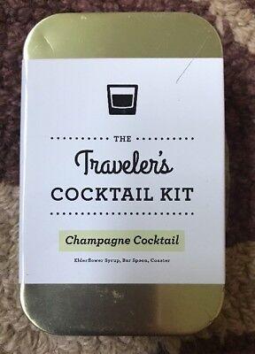 Traveler's 2 Cocktail Kits Champagne Cocktail Elderflower, Bar Spoon(set of - Elderflower Cocktail