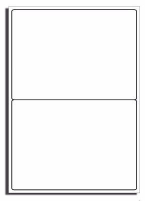 200 x 2 per sheet Blank A4 self adhesive product address postal White 400 labels