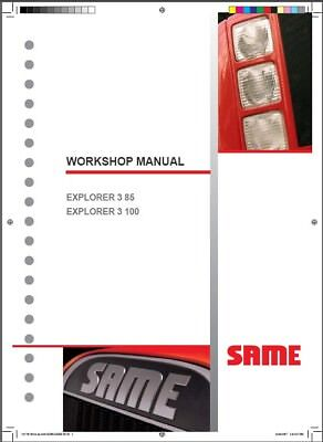 Same Explorer 3 85 Explorer 3 100 Tractor Service Workshop Manual Cd