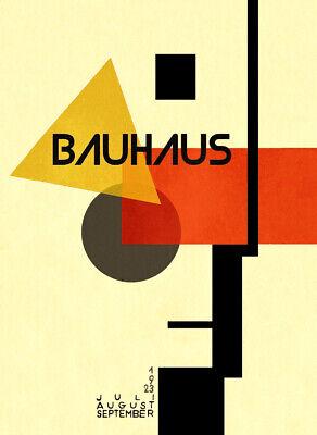 1923 GERMAN WEIMAR BAUHAUS ART EXHIBITION AUSSTELLUNG A3 POSTER RE PRINT