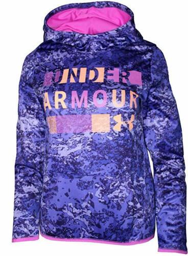 NWT UNDER ARMOUR Fleece Novelty Hoodie Purple/Pink Girls Size XS (6-6X)