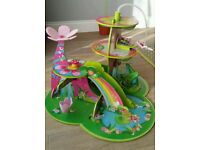 Fairy_Princess magical wooden garden playset, includes two figures