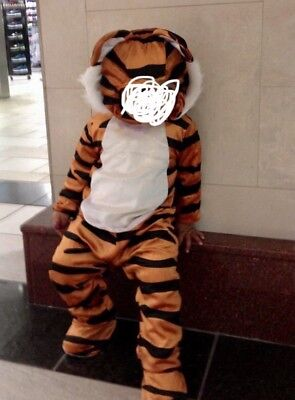 EUC TODDLER UNISEX TIGER COSTUME 18-24M PERFECT FOR HALLOWEEN!