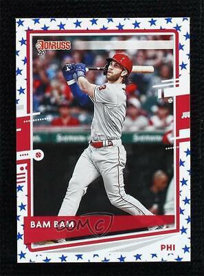 2020 Panini Donruss Nickname Variation Independence Day Bryce Harper Bam Bam  - $0.99