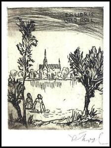 Koch Rudolf C3 Exlibris 1973 Bookplate Architecture Erotic Nude Nudo Woman 1045 - <span itemprop=availableAtOrFrom> Dabrowa, Polska</span> - Koch Rudolf C3 Exlibris 1973 Bookplate Architecture Erotic Nude Nudo Woman 1045 -  Dabrowa, Polska