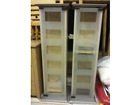 2 'Manhattan' style CD / DVD / Blu-ray storage units with glass doors