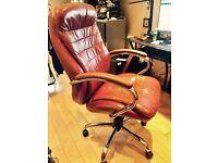 Eliza Tinsley 618KTAG/LTN High Back Leather Faced Executive Armchair with Chrome Base
