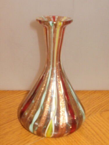 Murano Latticino flask shape bud vase 1960-1970
