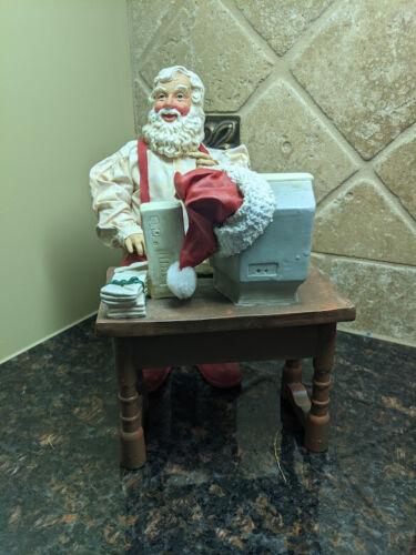 "Possible Dreams Clothique - ""Santa Online"" w/ Computer Desk Printer 1997 #713151"