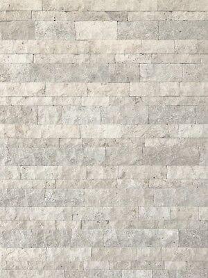 Wandverkleidung Wandverblender Travertin Crema 3D getrommelt Wohnrausch Muster