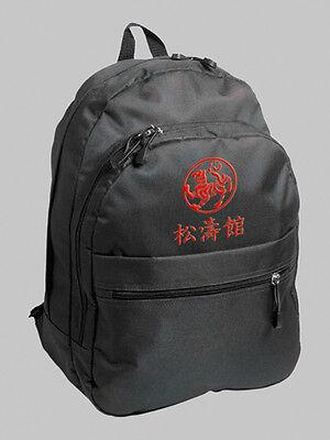 Rucksack mit Bestickung Karate Shotokan Tiger + japanische Kanji, gute Qualität