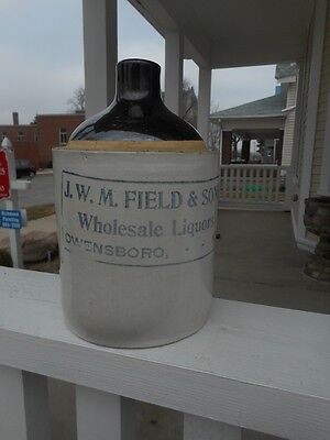 Stoneware Whiskey Jug - J.W.M. FIELD & SONS - Circa 1890