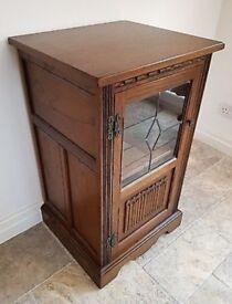 Old Charm Media / Hi-fi Cabinet in Light Oak Model Number 2438