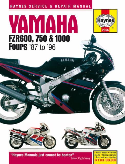 2056 Haynes Yamaha FZR600, 750 & 1000 Fours (1987 - 1996) Workshop Manual