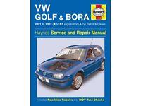 Haynes Manual for Volkswagen Golf & Bora 4-cyl Petrol & Diesel