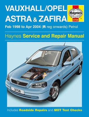 3758 Haynes Vauxhall/Opel Astra & Zafira Petrol (Feb 1998 - Apr 2004) Manual
