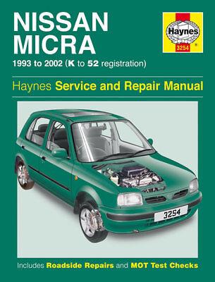 3254 Haynes Nissan Micra (1993 - 2002) Petrol K to 52 Workshop Manual