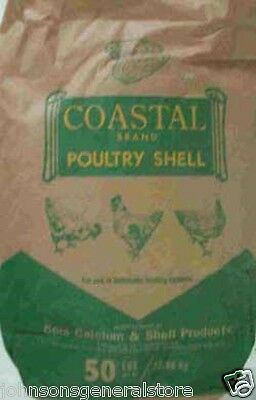 50 Lbs Calcium Poultry Oyster Shells To Harden Egg Shells Chicken Duck Quail
