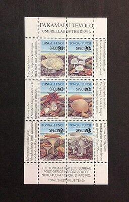 Tonga VF Mint NH Specimen Sheet Of Six