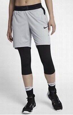 Orig €60 Nike Vapor Knit Aeroswift Basketball NBA Shorts S Women's Damen Grey