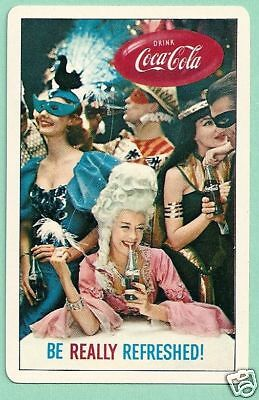 COCA COLA MASQUERADE BALL HALLOWEEN NEW YEAR EVE PARTY VINTAGE SWAP PLAYING CARD](Coca Cola Halloween Advertising)