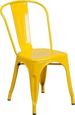 Yellow Metal Chair Restaurant Indoor Or Outdoor Chair