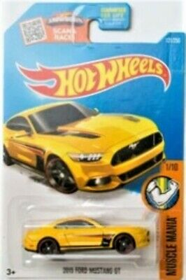 2017 Hot Wheels - Muscle Mania - '15 Ford Mustang GT - Yellow - #121/250