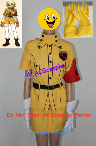 Hellsing Seras Victoria Yellow cosplay costume include yellow gloves