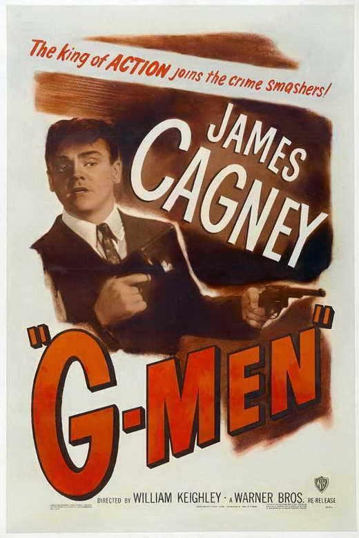 G MEN Movie POSTER 27x40 C James Cagney Barton MacLane Ann Dvorak Margaret