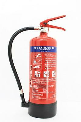 4KG DRY POWDER ABC FIRE EXTINGUISHER HOME OFFICE CAR VANS KITCHEN WITH BRACKET
