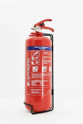 2KG DRY POWDER ABC FIRE EXTINGUISHER HOME OFFICE CAR VANS KITCHEN WITH BRACKET