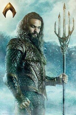 Aquaman Trident Jason Momoa  Movie Poster Us Version  Size  24 X 36