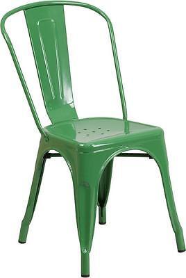 Green Metal Chair Restaurant Indoor Or Outdoor Chair