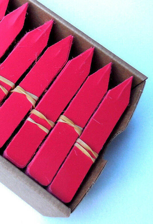 """Red Plastic Plant Stakes  Labels  Nursery Tags  Made in USA - 4"""" X 5/8"""""""
