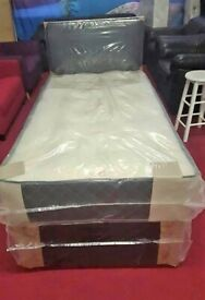 Factory Packed-Single Bed with Mattress (Available Separately)-Available In Stock!