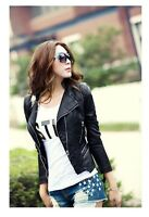 PU leather short paragraph Slim motorcycle jacket slim fit fashi