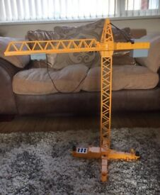 Playmobil battery operated crane