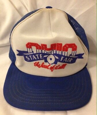 Vintage 1980's Ohio State Fair The Heart Of It All Snapback Trucker Hat Cap