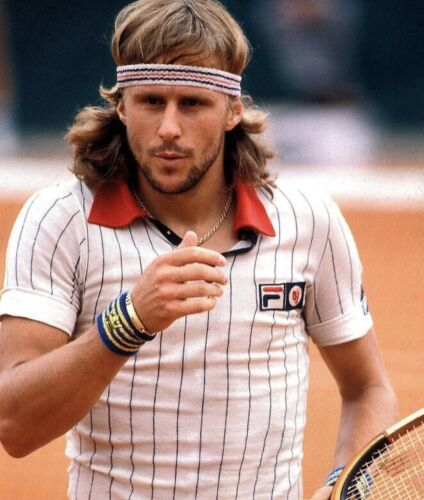 Retro Fila Tennis Headband & a pair of Play Loose Wristbands/Sweatbands