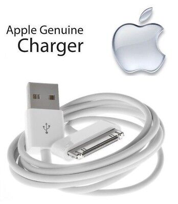 100% Original Apple iPad 2nd Gen - 30 Pin to USB Cable Charger (1m/3ft) MA591G/C