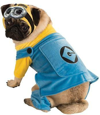Rubie's Despicable Me 2 Minion Pet Costume Halloween NWT size SM Dog Cat](Minion Pet Costume)