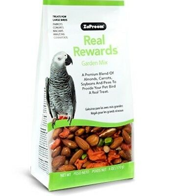 Zupreem REAL REWARDS GARDEN MIX LARGE BIRD Natural Parrot TREATS food 6oz