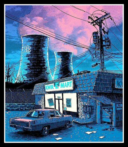 "4.5"" Seedy Springfield vinyl sticker. Kwik-E-Mart & Nuclear Plant decal."
