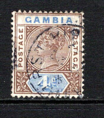 Gambia QV 1898-1902  4d. Brown & Blue SG42 Used