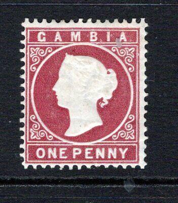 Gambia QV 1880-81 (Wmk CC, Upright) 1d Maroon SG12B M/Mint