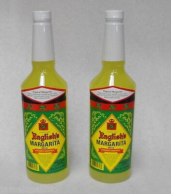 2x Jonathan English Tropical Margarita Frozen Or On The Rocks Drink Mix 32 Oz