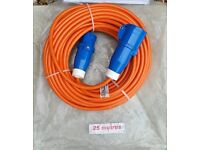 New 16amp 25 meter Hookup Cable